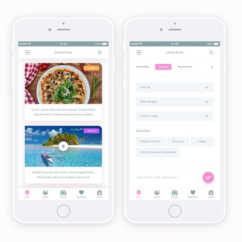 Lifestyle app design
