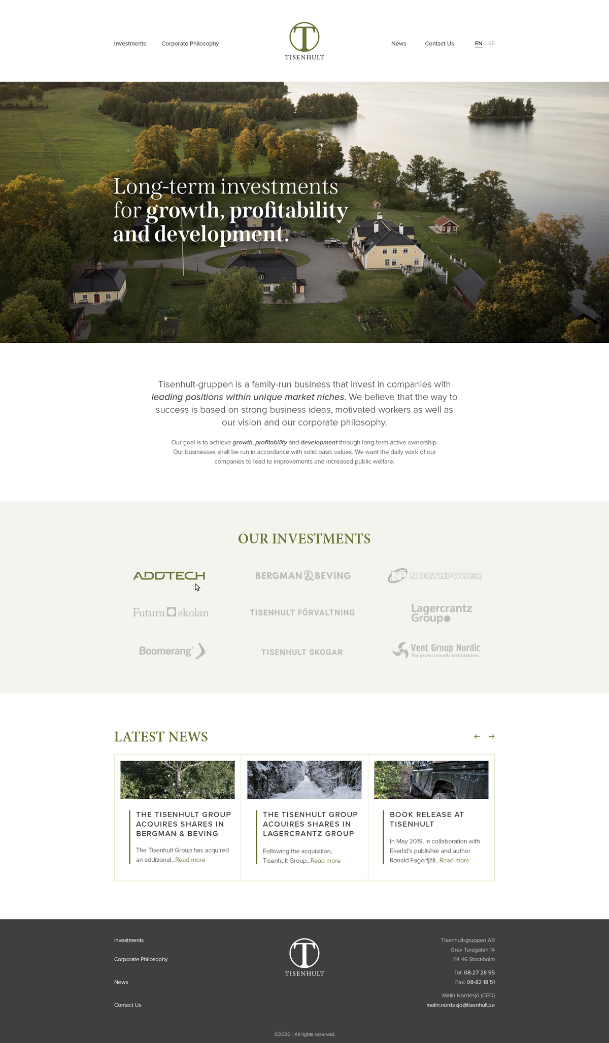 We need a new web design for our investment firm