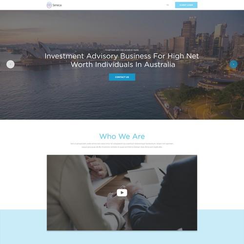 Help design the Seneca Financial Solutions website