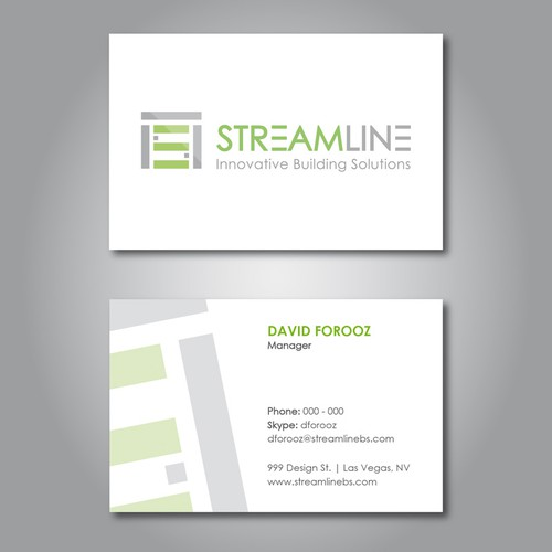 Streamline  needs a new logo and business card