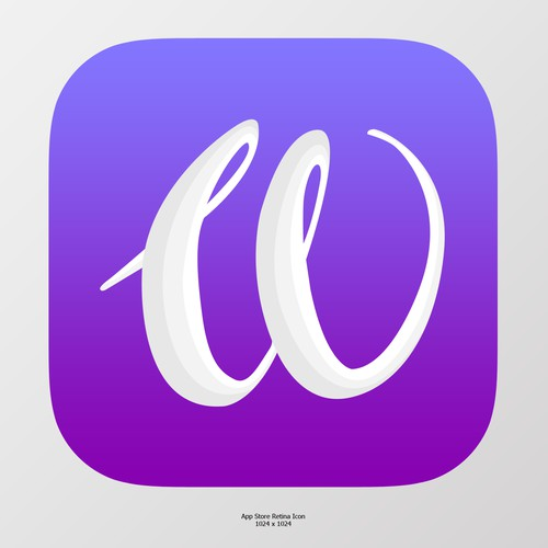 Beautiful W Icon for a women's app