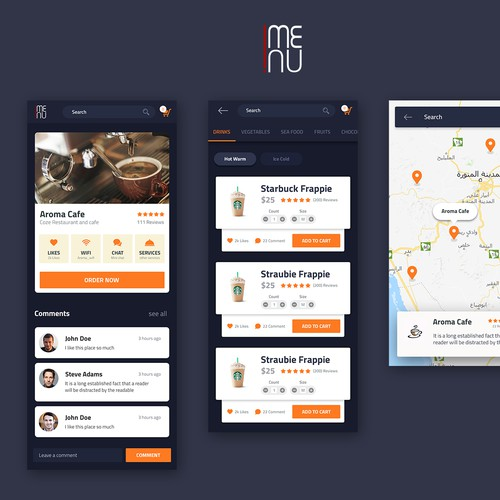 Food and drink app design
