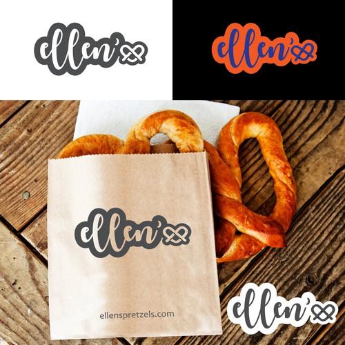 ellen's pretzels logo