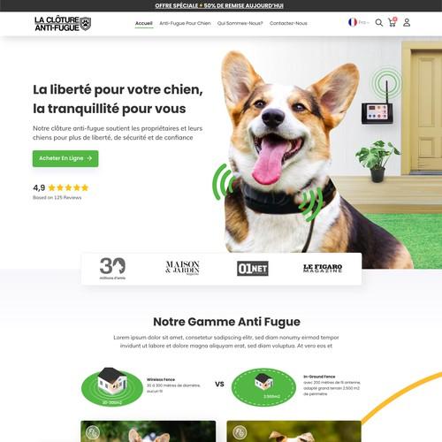 website design for La Clôture Anti Fugue