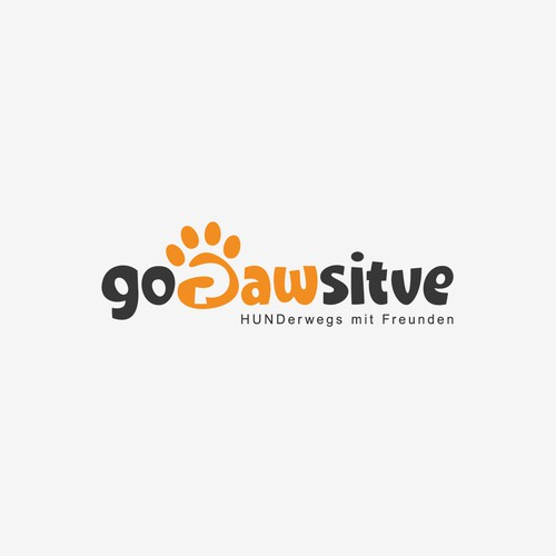 Youthful fun logo for Go Pawsitive