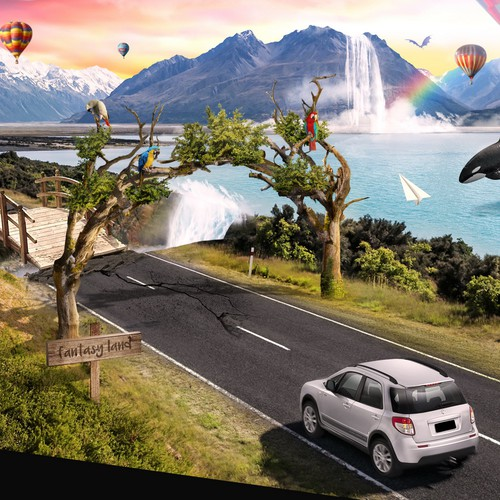 Illustration design for car rental company