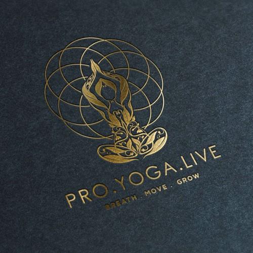 creative logo of Pro.Yoga.Live