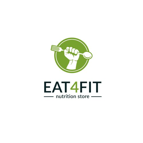 Simple logo for Eat4Fit.