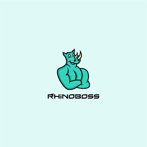 Playful logo for RhinoBoss Fitness