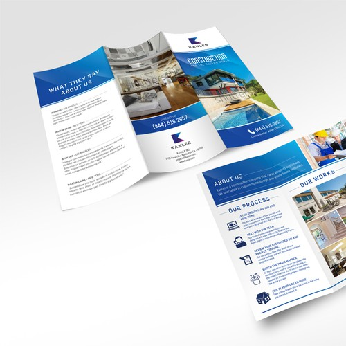 Brochure design for Kanler Construction.