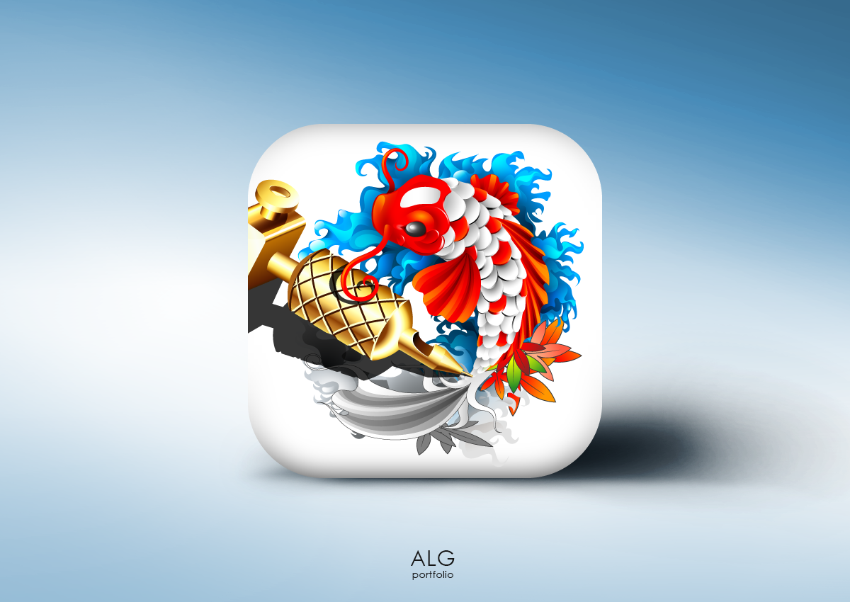 App icon for iOS/Android geared towards tattoos