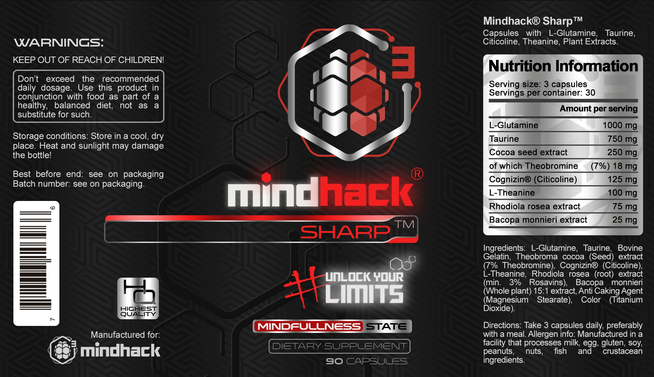 "MINDHACK® ""Smart"" Nootropic Vitamin Product label desing contest"