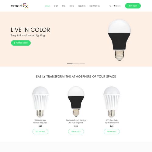 Landing Page Design Concept for SmartFx