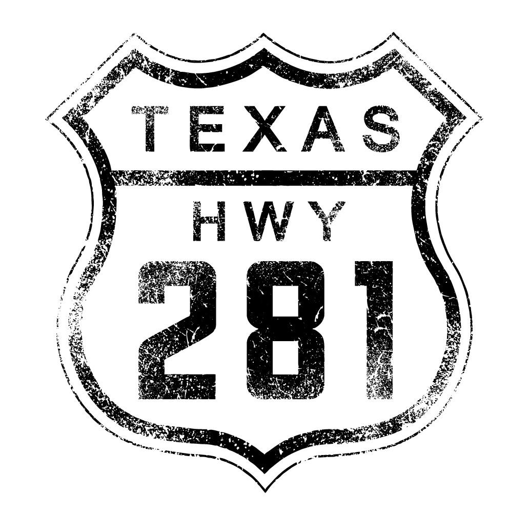 Design Vintage Texas Hwy Road Sign