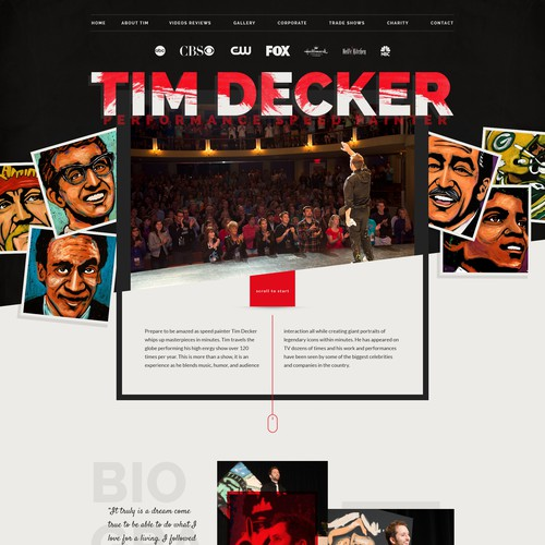Websitedesign for Tim Decker