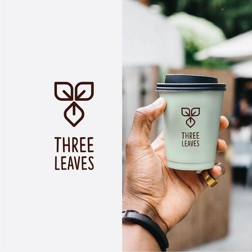 simple three leaves logo