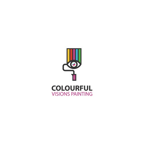 Logo concept for Colorful vision painting