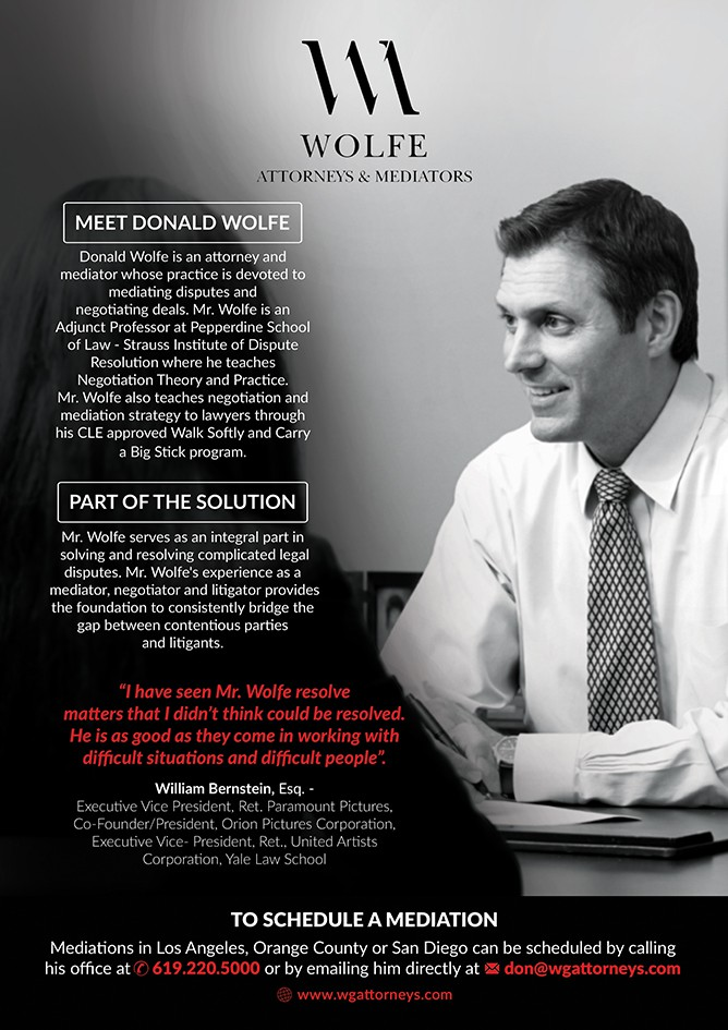 Rework flyer for lawyer who negotiates deals and mediates disputes