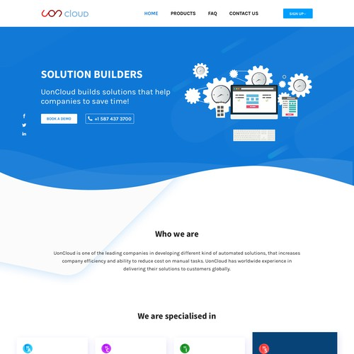 Wordpress page design contest entry