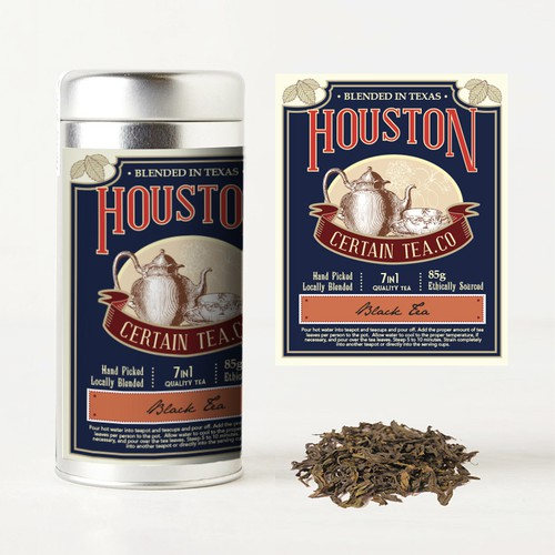 Vintage Label Design for Tea Co.
