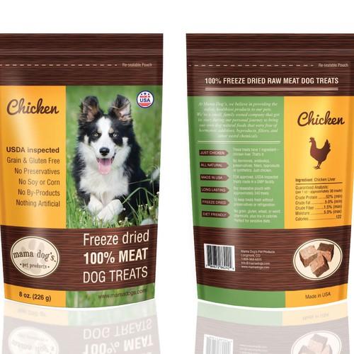 Dog treats packaging design
