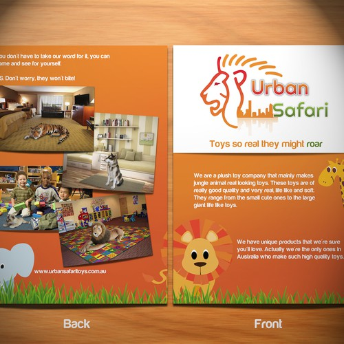 Create a slogan for Logo Provided (Animal Plush Toy Retailer :Urban Safari)