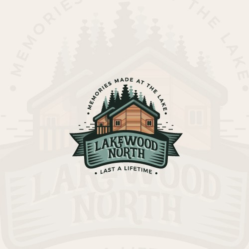 Vintage lake house logo