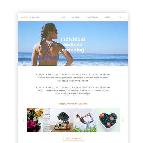 Design for wellness coaching website