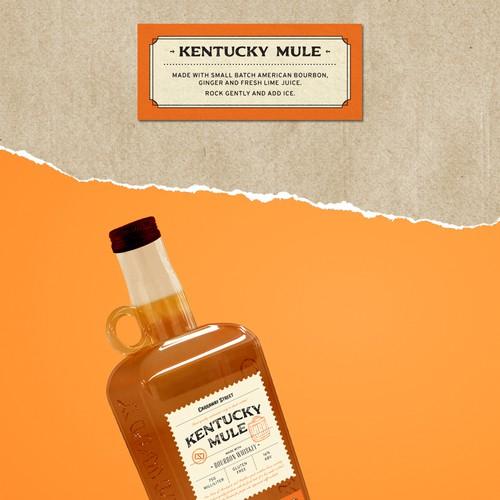 Kentucky Mule - Spirits Bottle Label