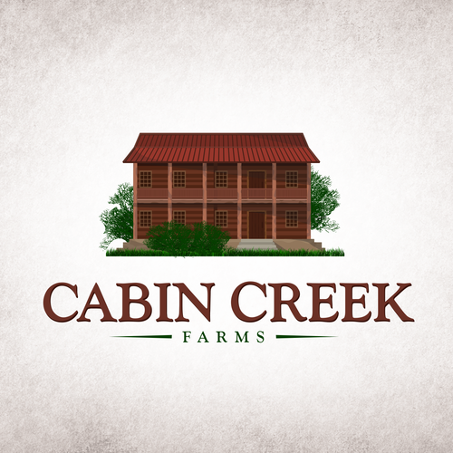 Vintage Logo for Cabin Creek Farm