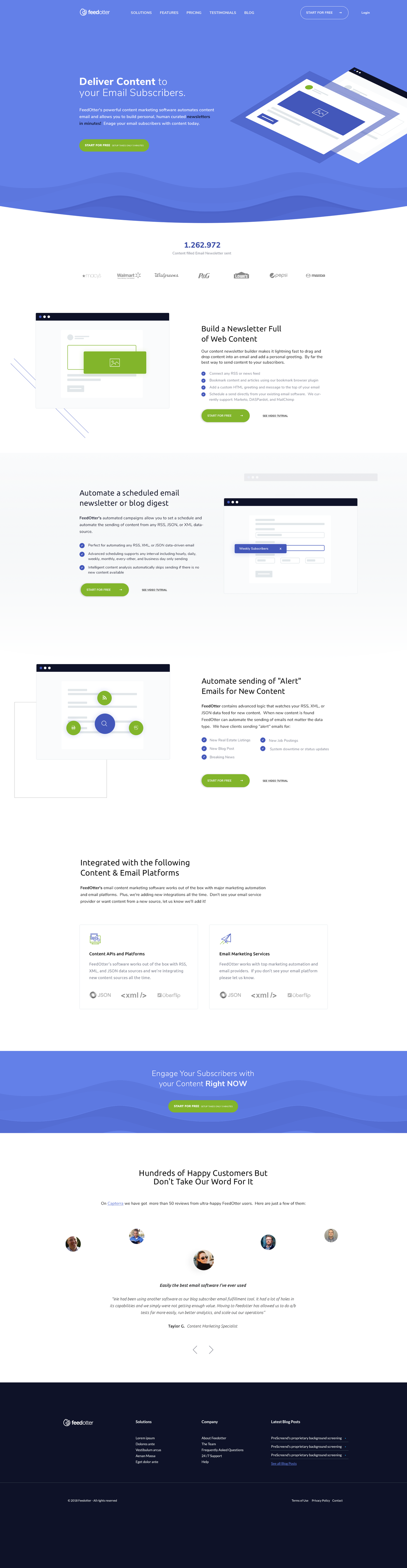 responsive Startpage + Innerpages