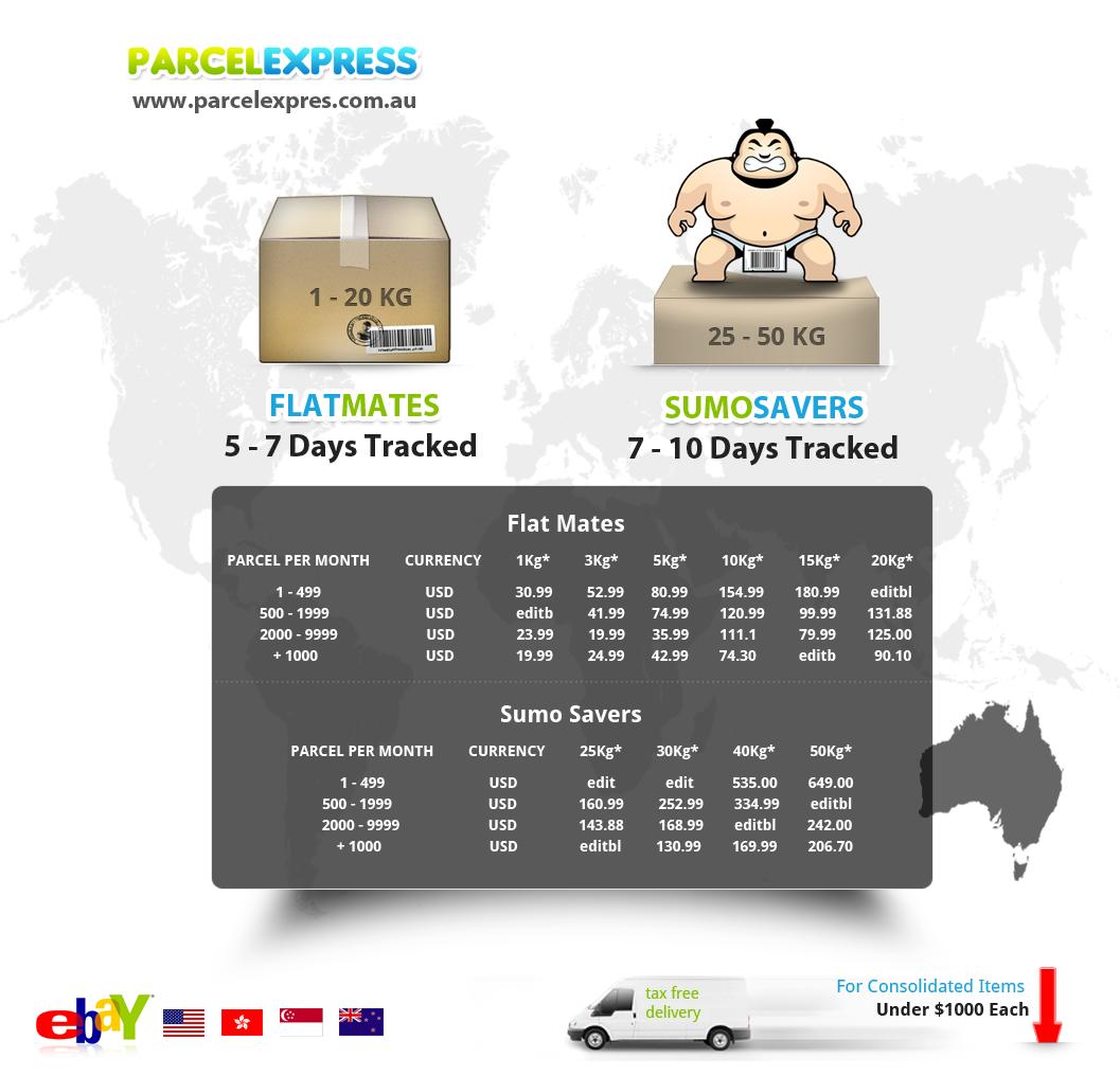 Fresh Funky Flyer For EBay Shipping Worldwide into Australia