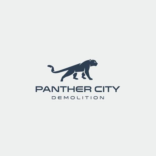 modern, bold and minimal panther design