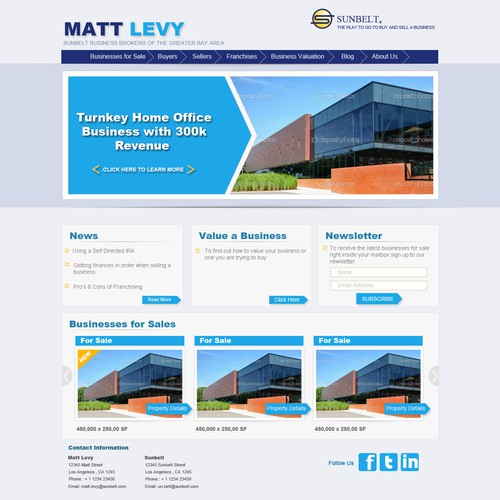 Landing Page Design for A Real Estate Firm