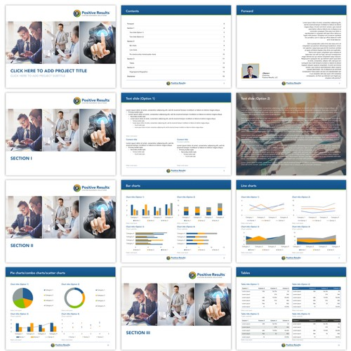 Powerpoint presentation template for a consulting agency