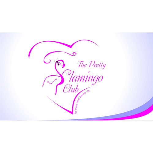 logo and business card for The Pretty Flamingo Club