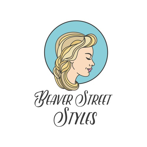 Logo concept for High end classic salon