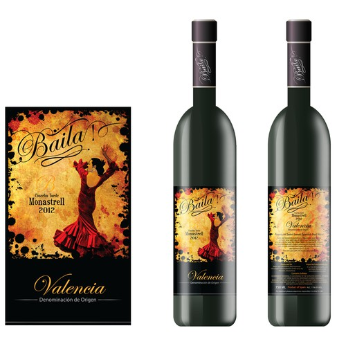Wine Label - A La Vida Wines & Spirits