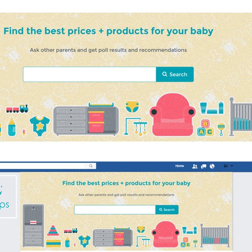 Create a baby-related illustration for 2naps.com