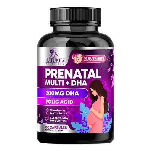 Prenatal Vitamins Label Design