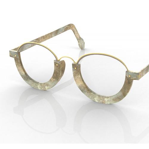 3d model of vintage glasses