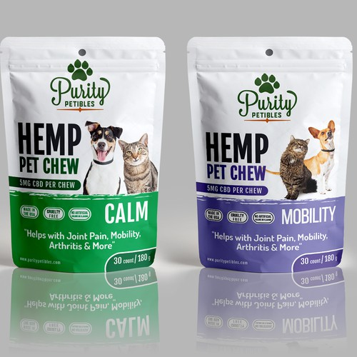 Design an Amazing Hemp Pet Chew Stand up Pouch
