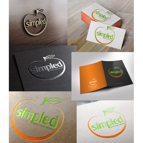 Design an eye catching illustration for a healthy meal delivery business called Simpled