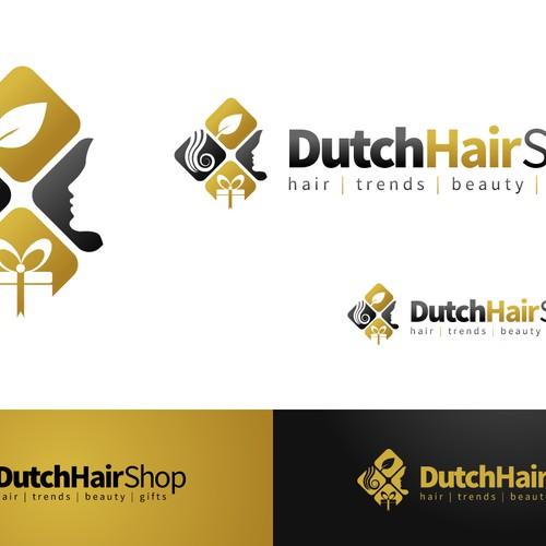 Creëer een logo voor Dutch Hair Shop