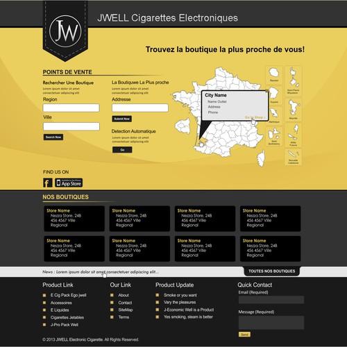 Aidez JWELL Electronic Cigarette avec un nouveau design de website design