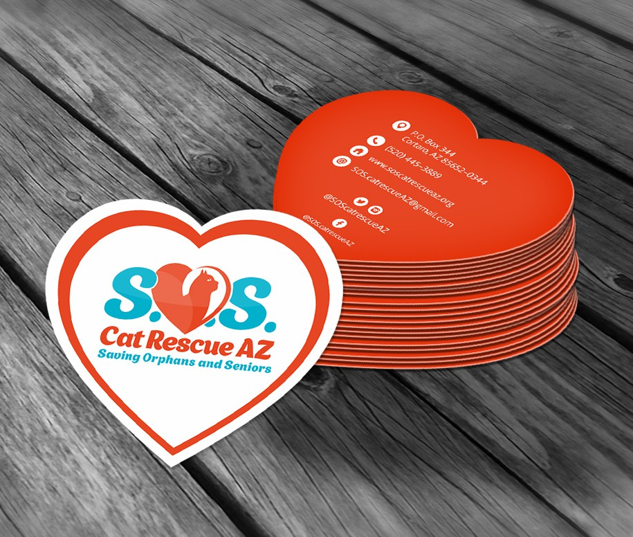 S.O.S. Cat Rescue AZ - business package design