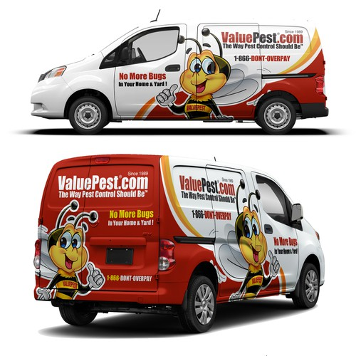 ValuePest Van Wrap Design