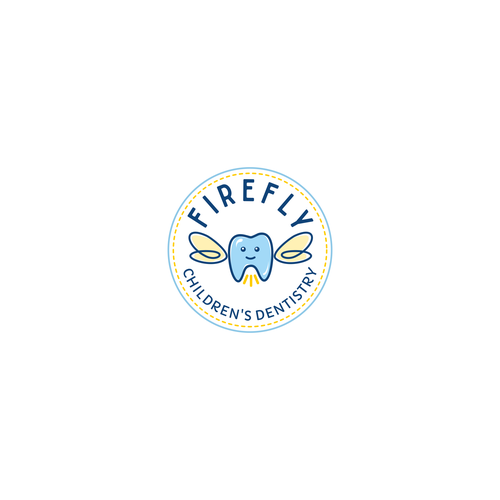 Cute logo concept for children's dentistry
