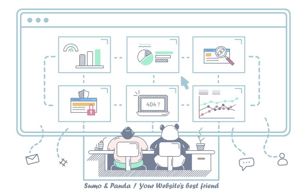 Landing Page Illustration for Sumo & Panda, your Websites best friend!