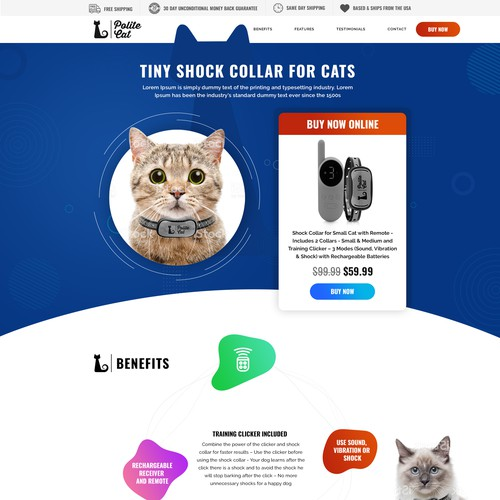 Web Design for Tiny Shock Collar